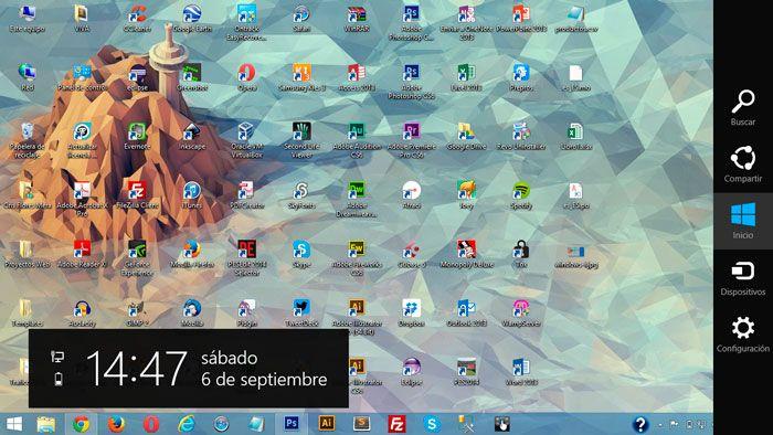 Windows + c
