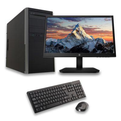 Computador de Escritorio con Procesador AMD Ryzen 3 y Monitor HP de 18.5'
